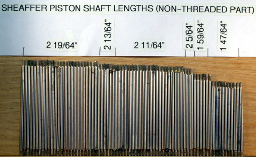 SHEAFFER PLUNGER/PISTON SHAFTS
