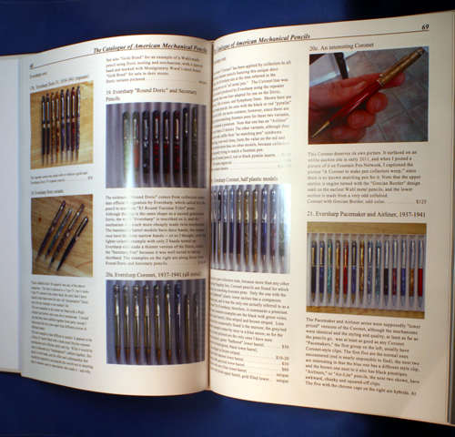 NEW BOOK BY JONATHAN VELEY:  CATALOGUE OF AMERICAN MECHANICAL PENCILS