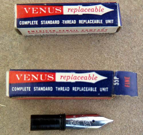 VENUS SCREW IN NIBS - SAME FORM, FIT AND FUNCTION AS ESTERBROOK RENEW POINT NIBS