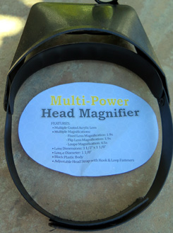 MAGNIFYING HEAD VISOR