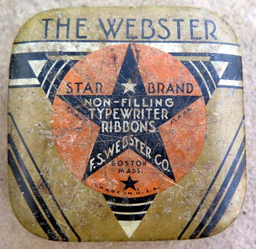 WEBSTER TYPEWRITER RIBBON BOX