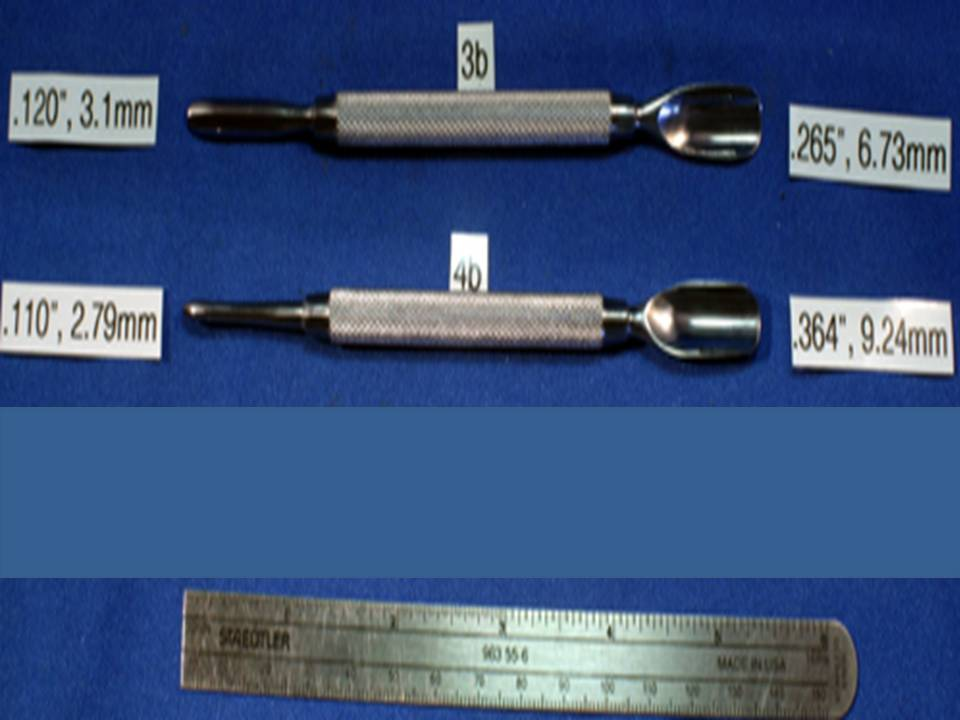 WIDE BURNISHERS FOR STRAIGHTENING DENTED METAL IN FOUNTAIN PENS