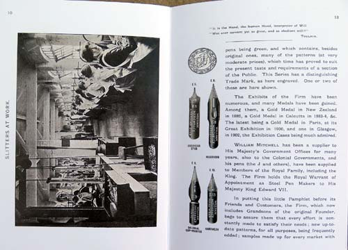 WILLIAM MITCHELL by royal warrant STEEL PEN MAKER to HIS MAJESTY THE KING. BIRMINGHAM and LONDON (BOOK)