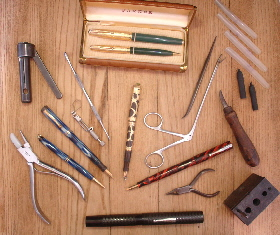 Fountain Pens and fountain pen Repair tools